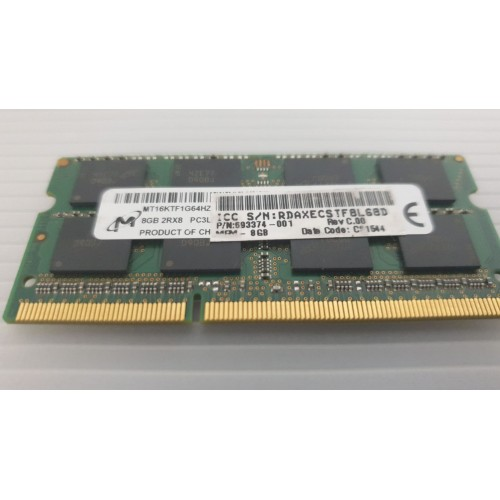 Micron 8Gb 2RX8 PC3L-12800S-CL11